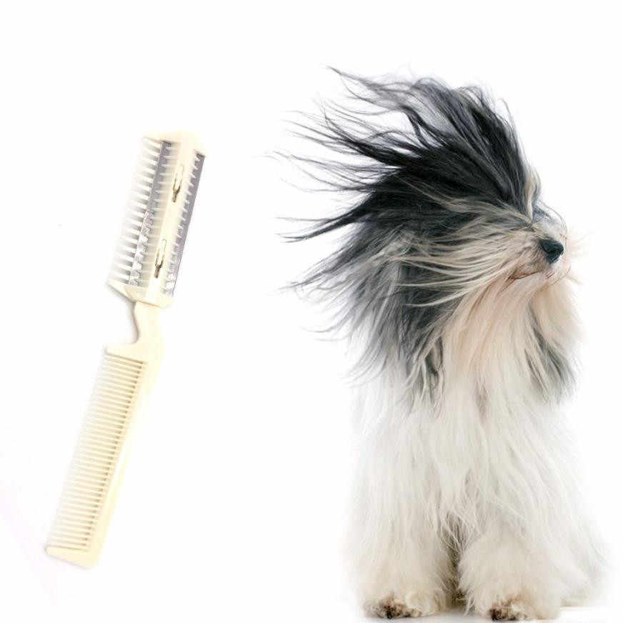 Pet Hair Trimming Razor Grooming Comb Blades Thinning Dog Cat Hairdressing Tool  T717