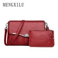 MENGXILU 2018 2 Set Baguette Crossbody Bags For Women Messenger Bags Women Shoulder Bag High Quality