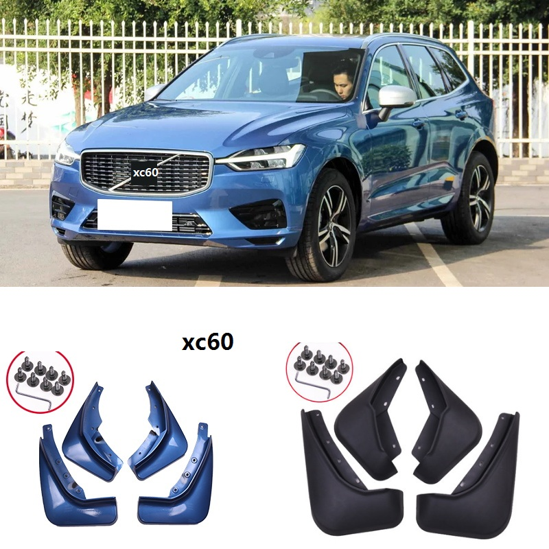 Front Rear Car Mud Flaps For Volvo XC60 2018 2019 Mudflaps Splash Guards Mud Flap Mudguards Accessories 4PCS gray blue  fender-in Mudguards from Automobiles & Motorcycles    1