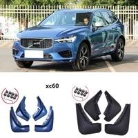 Front Rear Car Mud Flaps For Volvo XC60 2018 2019 Mudflaps Splash Guards Mud Flap Mudguards Accessories 4PCS gray blue fender