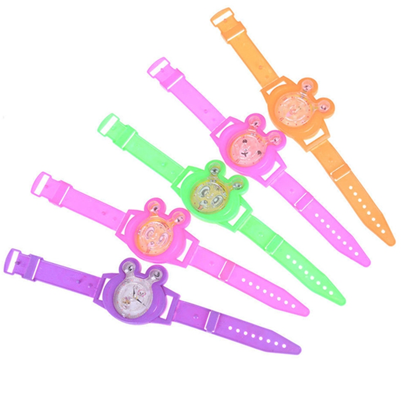 2 Pcs Color Random Baby Game Watch Fake Watch Toy Kids Birthday Party Favor Gift Baby Shower Souvenirs Toy