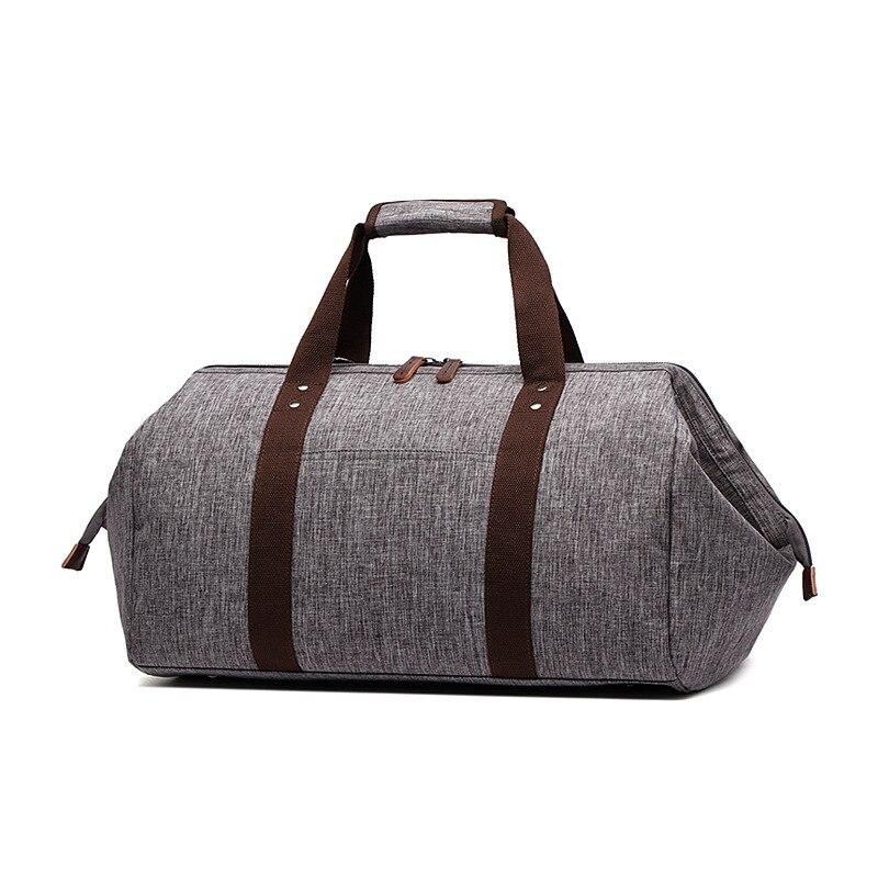 Canvas Men Travel Bags Large Capacity Luggage Packing Travel Organizer Blue Men Folding Duffel Bag Bolso Viajes Sac Weekend