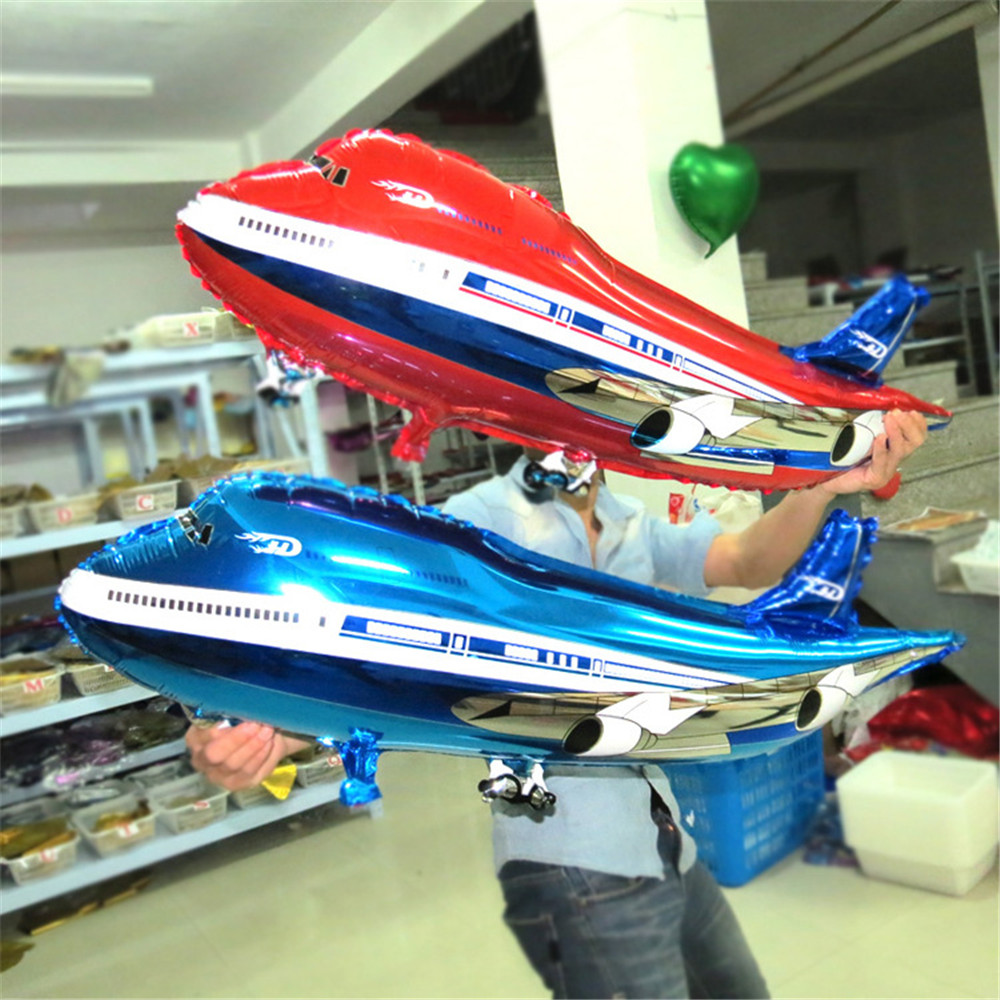 Large Air Passenger Plane Balloon Airbus Planes Large Fighter Aluminum BALLOON Birthday Party Decoration Cartoon Hat