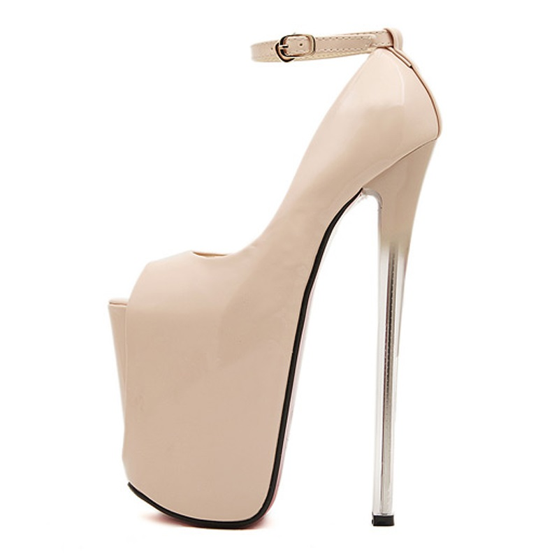 Sexy Round Toe super High Heels Shoes Woman Wedding Party Shoes 19 16 22CM  BIG 43. sku  32899240010 bd1260f9f6b2