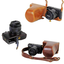 Latest Luxurious Digicam Case Video Bag For Canon EOS M3 EOSM3 PU Leather-based Digicam Bag With Strap Open battery design 5 Colour