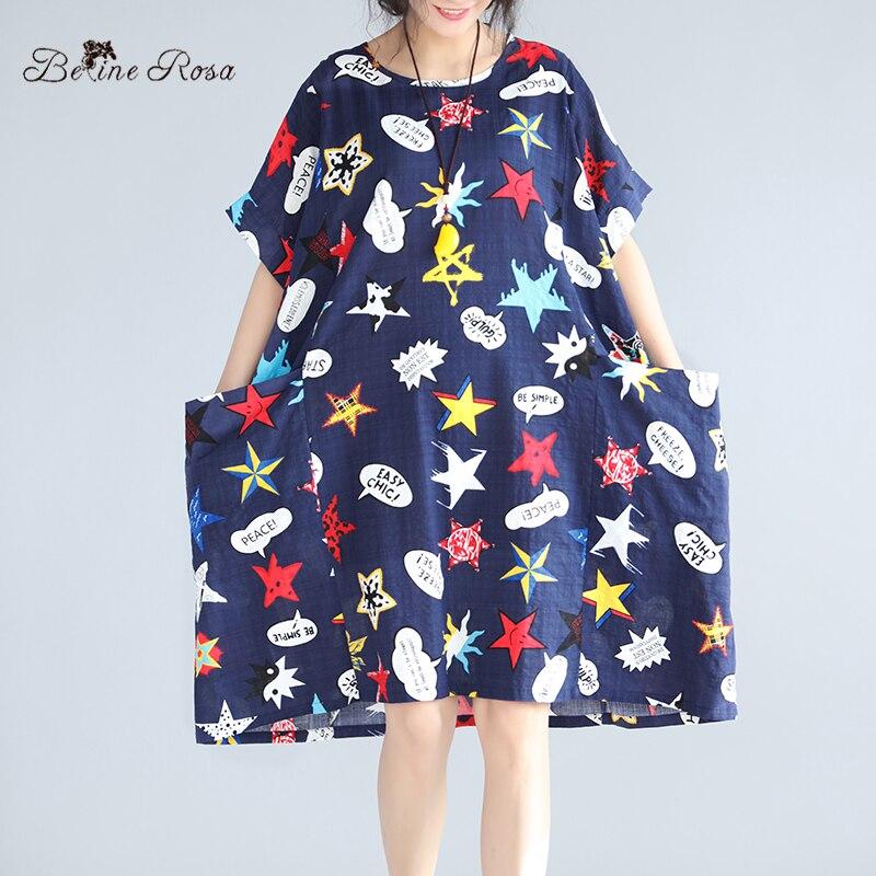 Платья больших размеров лен хлопок