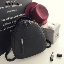 Voguewomen небольшой рюкзак повседневные школьные сумки для подростков девочек Мини искусственная кожа рюкзак женский, черный сзади мешок Mochilas