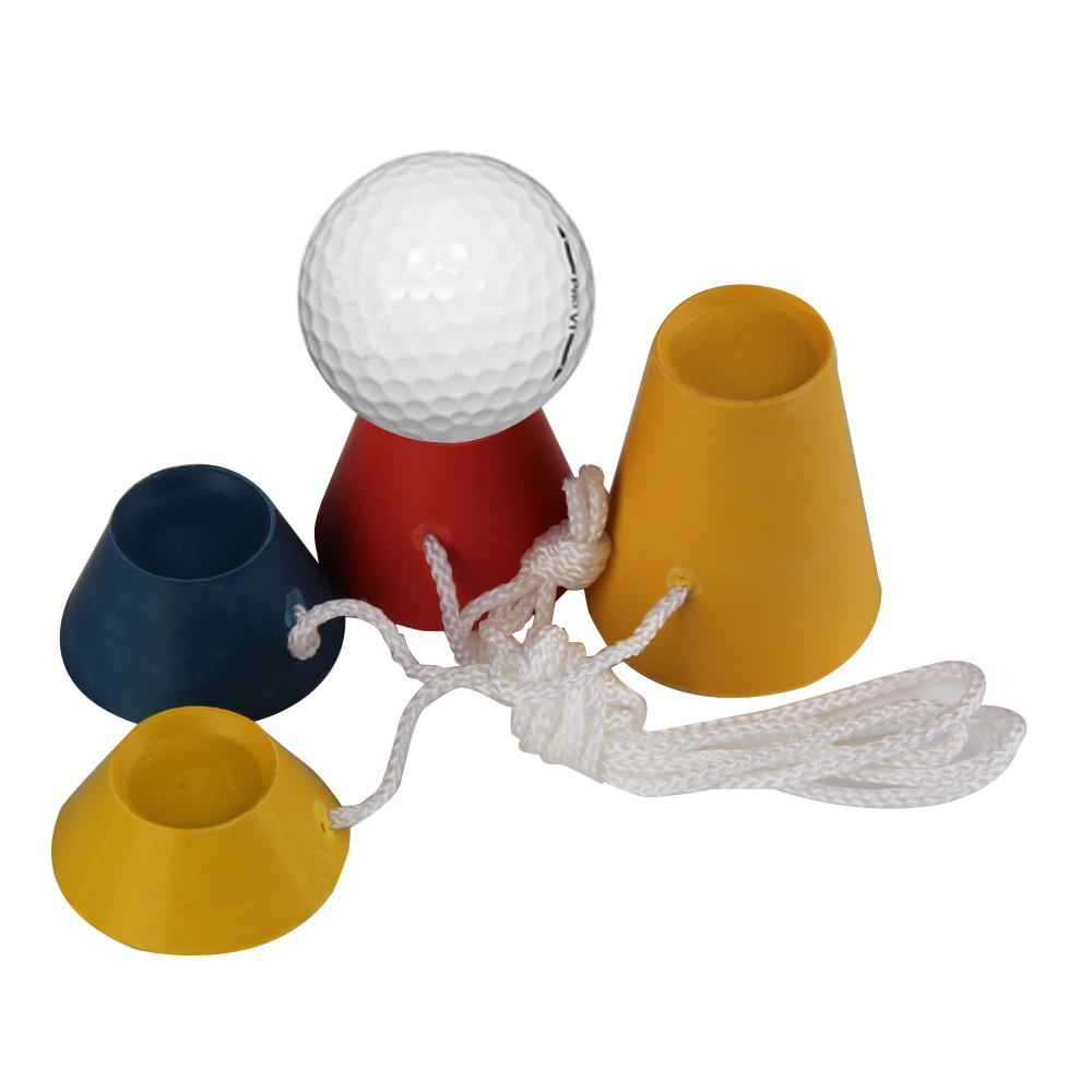 33mm 4 In 1 Golf Rubber Tees Golf Training Ball Tees Winter Golf Tee Set Golf Accessories 4 Sizes With White String