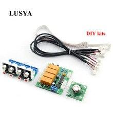 Lusya zestawy DIY przekaźnik 4 way wejściowy sygnał Audio przełącznik RCA przełącznik Audio wybór wejścia pokładzie B7 004