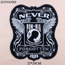 ZOTOONE Big Punk Military Patches Large Embroidery Biker Wings applications For Clothes Jacket Iron On letter Patch