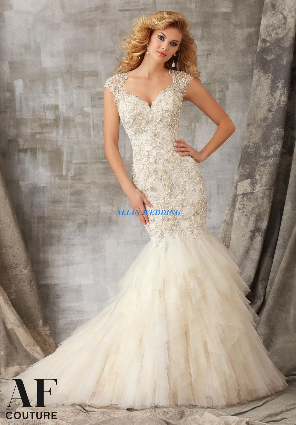 unique wedding dress different wedding dresses Romantic Cap Sleeve Wedding Dress With Cameo Back