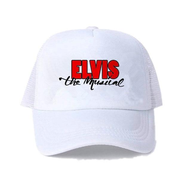 4bdadb2262c Vintage Elvis Presley Cap Elivis Rock N Roll Trucker Hat Elivis Graceland  Snapback Hat EP Figure