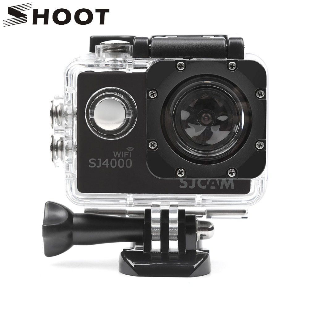 SHOOT 40M Diving Waterproof Housing Case for SJCAM SJ4000 SJ 4000 WIFI EKEN h9 h9r Camera Case for SJCAM SJ4000 Accessories transparent plastic waterproof dive housing case underwater cover for sj4000 sports camera camera accessories