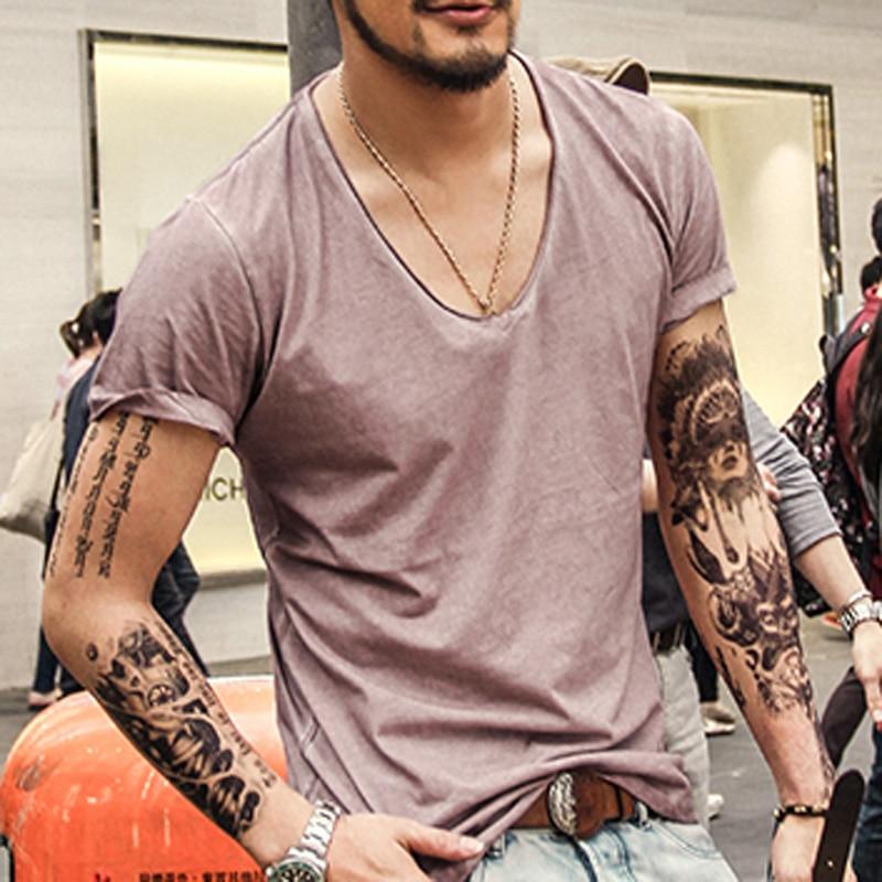 Camiseta Hombre Marca Vintage retro camiseta Hombre Sólido Casual - Ropa de hombre - foto 3