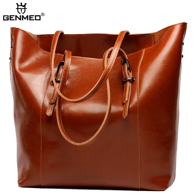 New Genuine Leather Handbags Women Cow Leather Shoulder Bags Famous Brand Design Ladies Leather Tote Bag Female Messenger Bag цена и фото