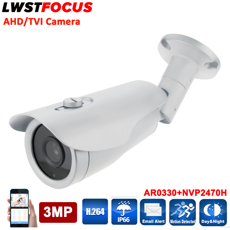 Super High resolution 2048*1536 2 In 1 AHD/TVI Camera Outdoor 3MP CCTV AHD Security Camera With 3.6MM lens With OSD cable IR Cut 4 in 1 ir high speed dome camera ahd tvi cvi cvbs 1080p output ir night vision 150m ptz dome camera with wiper