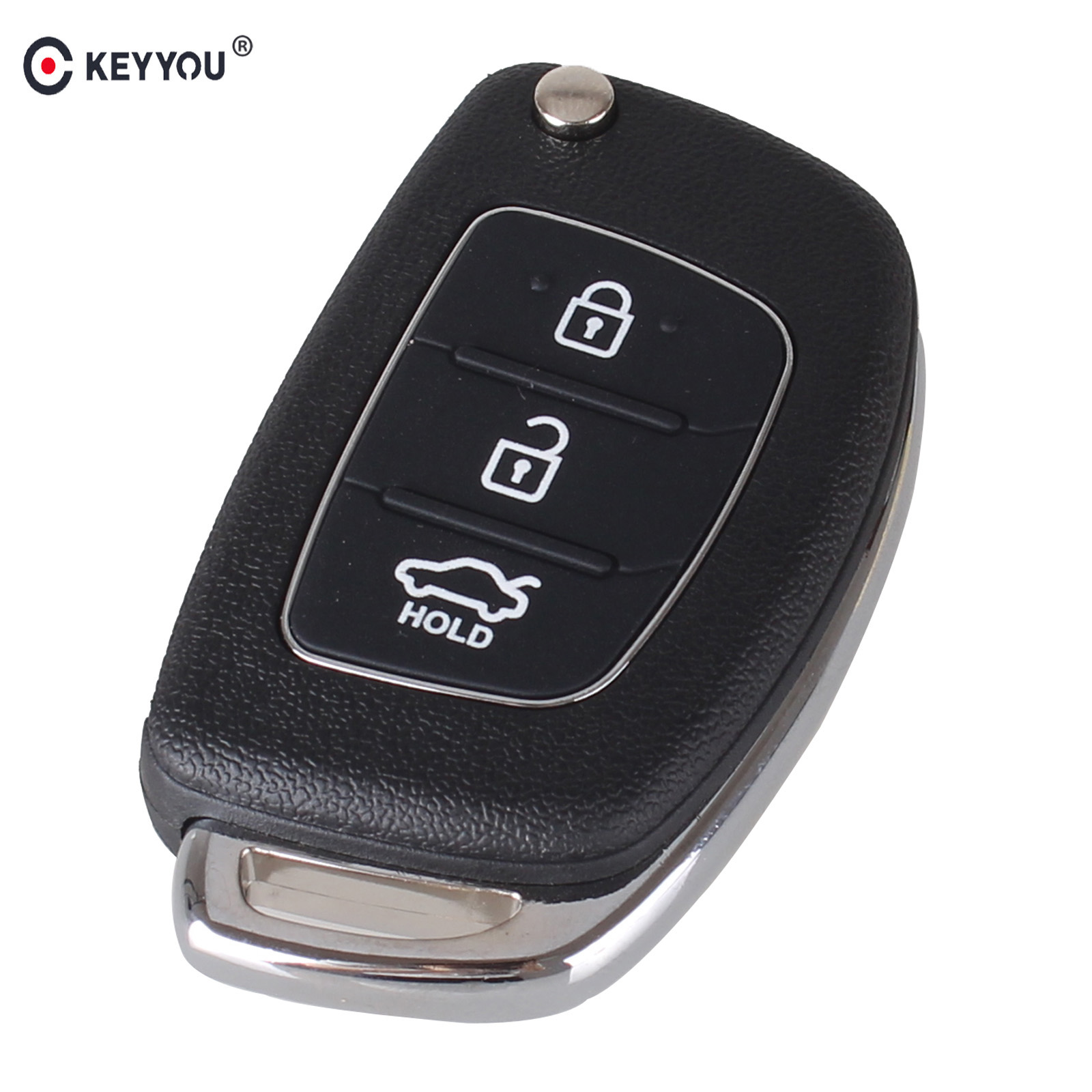 KEYYOU 3 Buttons Flip Folding Remote Key Shell Fob Key Case For Hyundai Mistra ix35 ix45 Series 2 Verna maizhi 3 button flip folding car key shell for hyundai avante i30 ix35 kia k2 k5 sorento sportage key cover case styling