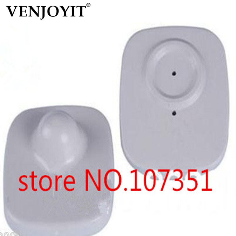 500PCS  Anti Theft Clothing Store EAS 8.2MHz Small Square Security Hard Tag  For Security Door