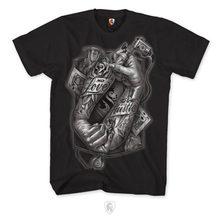 8b99b0bac OG Abel OGABEL Tatuagem Amor Cartões de Mãos 018 t Camisa Preta dos homens  Vestuário Tinta AppaMen Streetwear T-Shirt