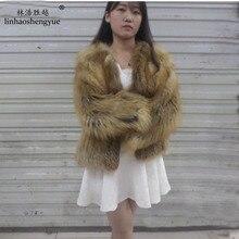 Linhaoshengyue The real natural fox fur coat