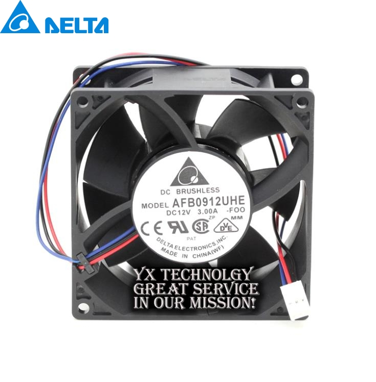 Delta New and Original AFB0912UHE-F00 9238 12v 3.0A server fan speed for  92*92*38mm free shipping wholesale original delta delta afb0912uhe f00 9238 90mm 12v 3 0a server axial powerful cooling fans