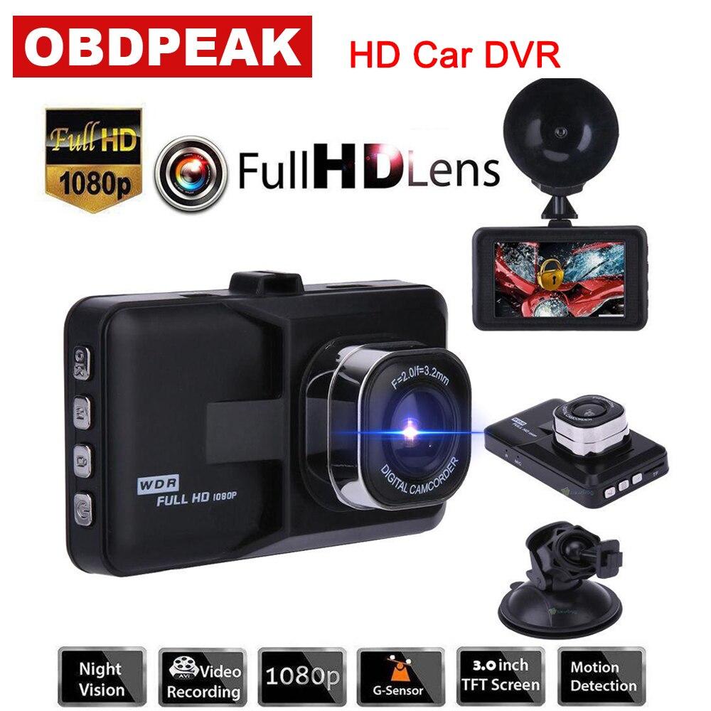 Auto kamera 3,0 zoll FHD 1080 p Auto video recorder auto DVR kamera Für Fahren Aufnahme Auto Detektor dash cam eingebaute G sensor