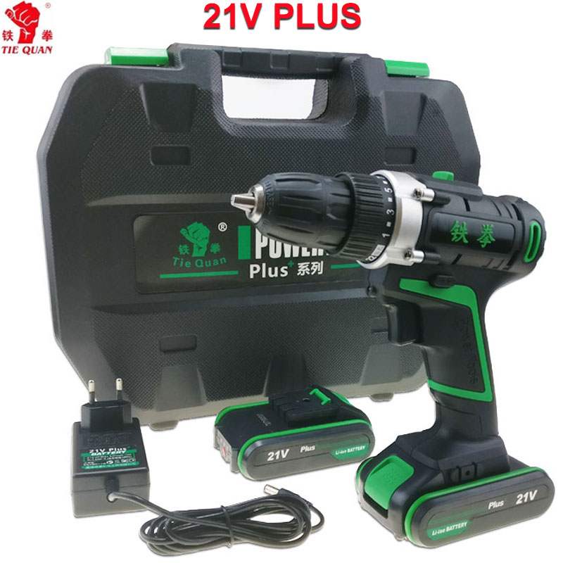 21 V outils électriques Perceuse électrique Électrique Perceuse sans fil électrique de forage perceuse à batterie Tournevis Mini tournevis électrique