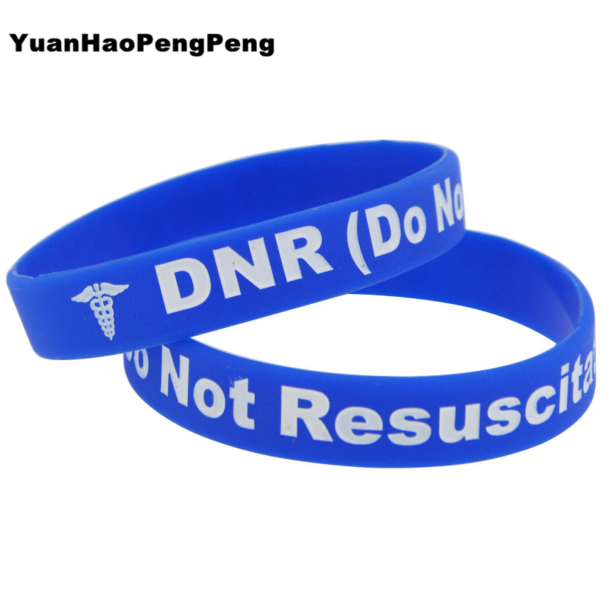 THANK YOU BLUE  Silicone Wristband Adult size