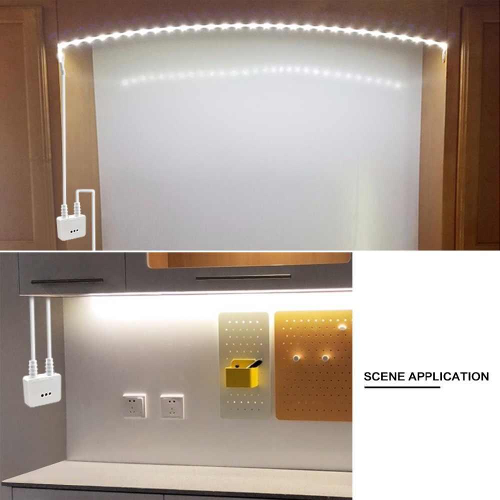 DC12V ИК ручной волновой сенсор переключатель с регулировкой яркости светодиодный свет шкафа Спальня Кухня лестница лампа для платяного шкафа с блоком питания 1 м 2 м 3 м 4 м 5 м