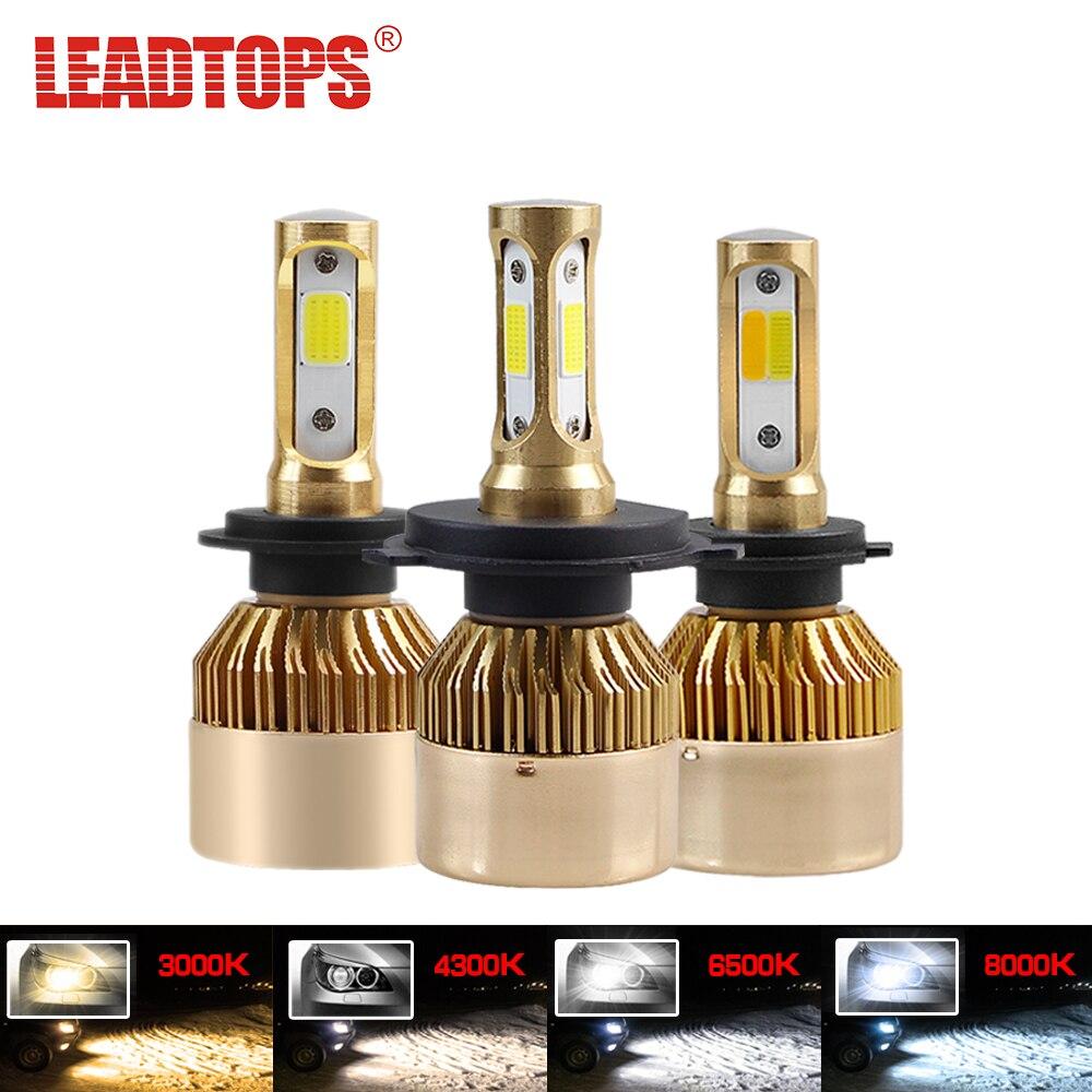 LEADTOPS H4 H7 LED Auto Scheinwerfer H1 H3 H8 H9 H11 880 881 H27 9004 9905 9006 Glühbirne 12 V 6000 K 8000 K 4300 K 3000 K Scheinwerfer WERDEN