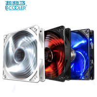 PcCooler 12cm Computer Case Cooling Fan LED 4pin PWM Fan Quiet 120mm LED Red Blue White