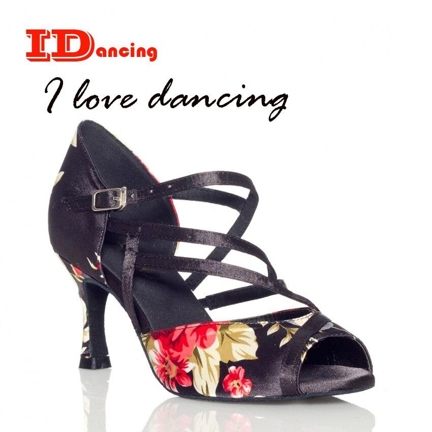 7ed8641a Zapatos de baile de flores para dama zapatos de baile latino zapatos de  fiesta de salón