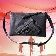 Schwarz 3D Print Gun taschen frauen tageskupplungen hülle designer kupplung berühmte marke kupplung für abendgesellschaft kleine messenger bags