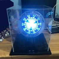Light Powered Avengers Iron Man Arc Reactor DIY Finlished Model Kit LED Chest Men Heart USB Movie Props DIY Model Lamp Toys