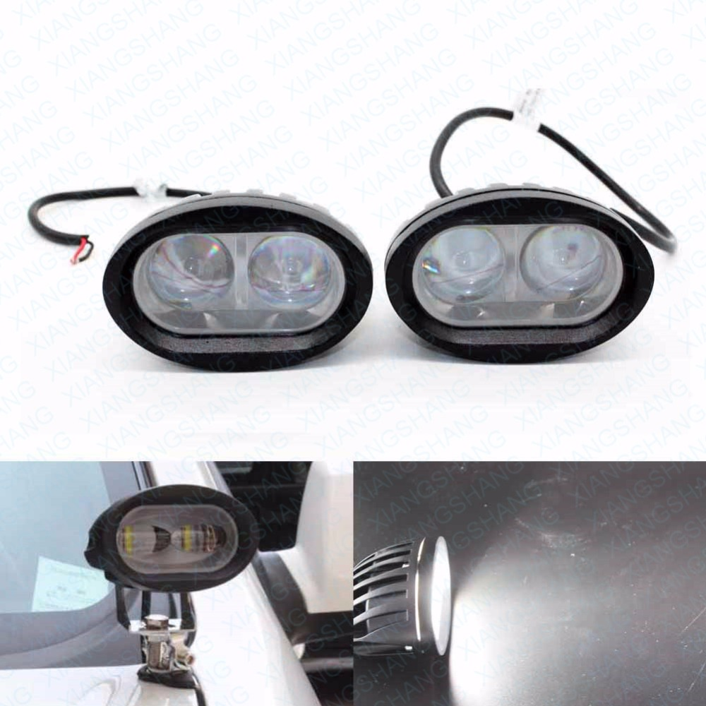 2x 20W Auto LED Work Light Offroad Car Worklights Lighting Truck Motorcycle Trailer Bicycle Fog Lamp Driving Head light Spot
