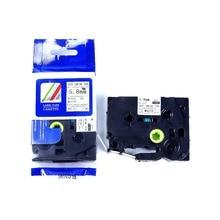10 шт./лот термоусадочная лента-картридж картриджа HSe-211~ 5,8 мм x 1,5 м лента HSE для кабельного Марк черный на белом для Brother P touch принтера