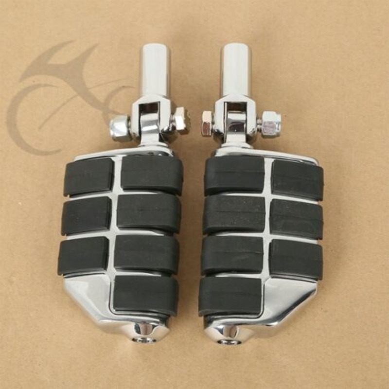 Motorcycle Passenger Lion Paw Foot Pegs & 2'' Supports Mounts For Harley Softail Fatboy 00-06 2004 2005