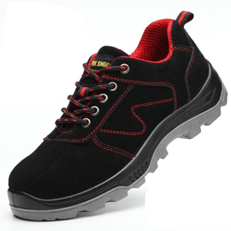 Trabajo zapatos de seguridad zapatos de punta de acero de perforación prueba seguro laboral zapatos de los hombres transpirables zapatos de invierno