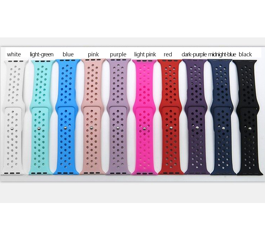Silicone Colorful Band Connector Adapter For Apple Watch Series 1 Series 2 Strap For Nike Sports apple watches Buckle Bracelet