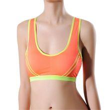 Women Seamless Sports Bras Stretch Workout Yoga  Fitness BrasTank Tops  Padded Workout Vest