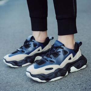 Image 3 - YIKUYUBO 2019 nuevos zapatos deportivos transpirables casuales de moda para hombres zapatillas de correr portátiles con cordones