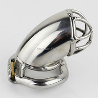 Latest Design 55mm Length Stainless Steel Super Small Male Chastity Cage Short Chastity Device Cock Cage For Sex Toys