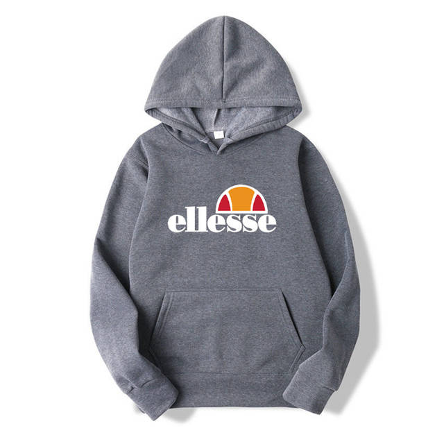 e7497f79 US $13.48 30% OFF New Regular Loose Hooded Hoodies Unisex Ellesse Tide  Letter Printing Hoodies Men Women Casual Pullover Hooded Clothes JA234-in  ...