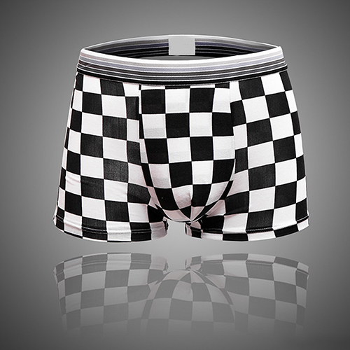 Hot item! Men's Fashion Grid Pattern Underwear Sexy Shorts Cotton Underpants