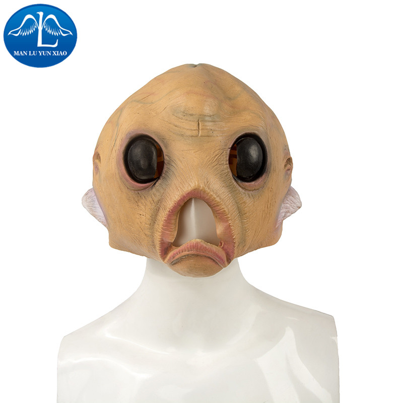 MANLUYUNXIAO Scary Alien Latex Masks Halloween ET Cosplay Props Party Fancy Dress Extra Terrestrial Mask