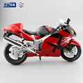 1:12 Escala niños modelos de Suzuki GSX 1300R motocicleta halcón Aleación Diecast metal moto de carreras de coches juguetes de colección de regalo del muchacho