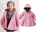 0-2Year/Autumn Baby Girls Clothes Infant Clothings Kids Woolen Hooded Warm Children's Winter Toddler Jackets Kid Overcoat BC1396