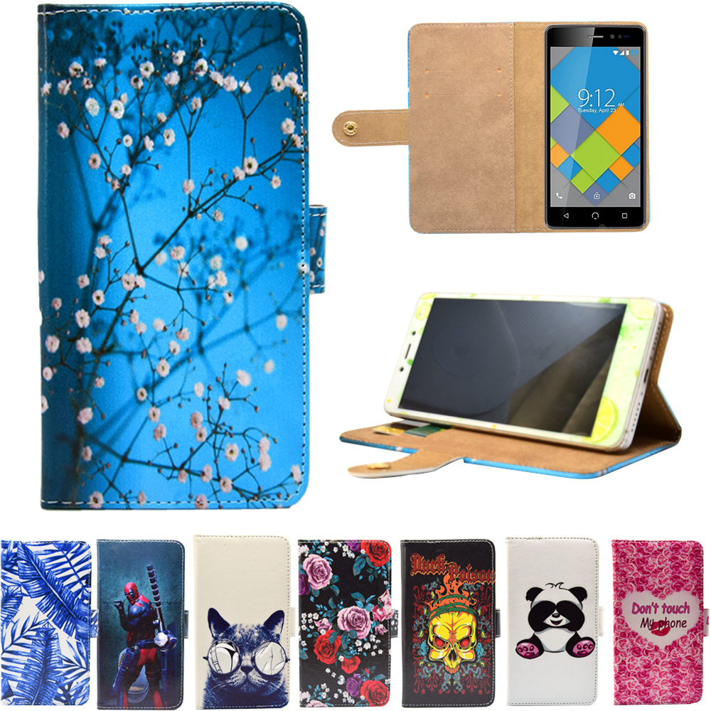❤️ New PU Leather Phone Cases Cartoon Flip Wallet Stand Cover Case for NUU  Mobile A4L n5001l G3