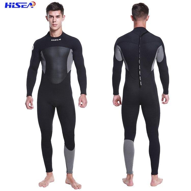 Hisea combinaisons d'hiver Dcuba combinaisons de plongée hommes combinaisons de natation surf imperméable Premium néoprène plongée en apnée surf 1.5MM
