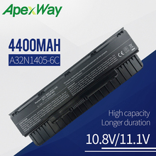 Apexwa 10.8V Laptop Battery A32N1405 A32NI405 For ASUS G551 G551J G551JK N551JW4720 N751 G551JM G551JW  N751JK For ROG G58 G58J